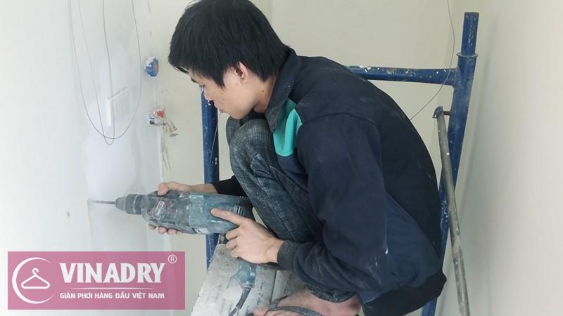 Lắp giàn phơi Hoàng Mai nhà anh Lục P1202 chung cư Mandarin Garden