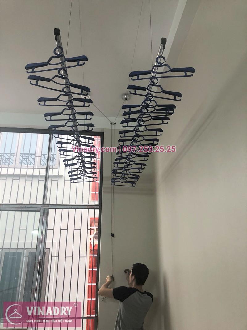 Lắp giàn phơi quần áo thông minh nhà anh Tú ở Đình Bảng, Từ Sơn, Bắc Ninh