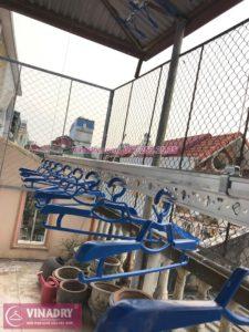 Lắp giàn phơi thông minh ở trần mái tôn nhà anh Cường ở ngõ 93 Vương Thừa Vũ