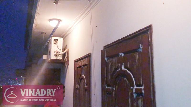 Lắp giàn phơi Từ Liêm nhà chị Hải P502 tòa B1 chung cư Hoàng Công Chất