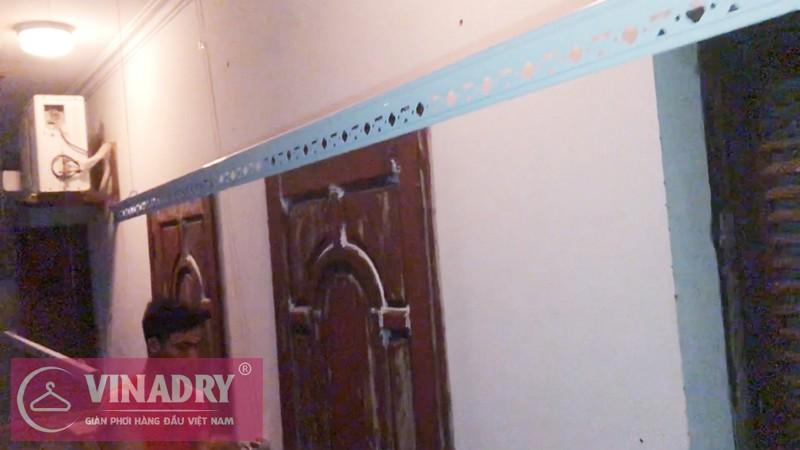 Lắp giàn phơi Hà Đông nhà cô Vân P2203 chung cư CT2 Ngô Thì Nhậm