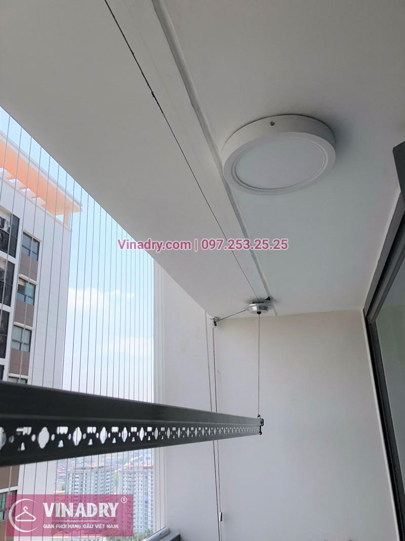 Lắp giàn phơi quần áo chung cư Hateco Xuân Phương tòa CT1A nhà chị Phụng