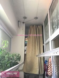 Lắp giàn phơi Hà Đông nhà chị Ngọc chung cư CT2 Nam Xa La