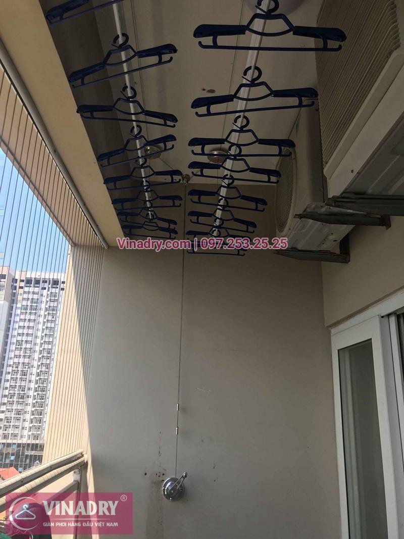 Lắp giàn phơi Hòa Phát ở chung cư 24T Hapulico Complex nhà chị Mai