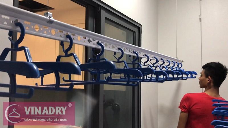 Lắp giàn phơi quần áo chung cư Discovery Complex Cầu Giấy nhà chị Hạ