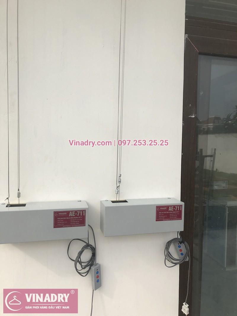Lắp giàn phơi bấm điện ở biệt thự Ciputra khu Q nhà chị Lan