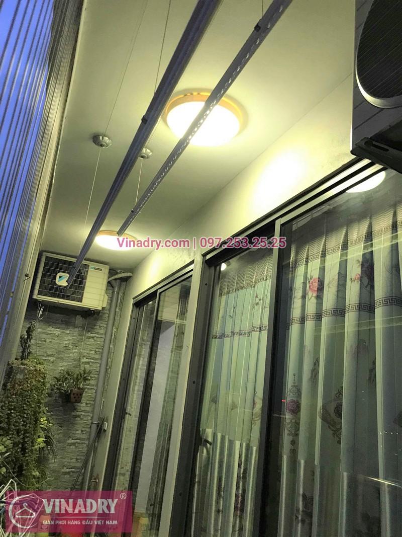 Lắp giàn phơi quần áo chung cư CT2 Tây Nam Linh Đàm nhà chị Hà