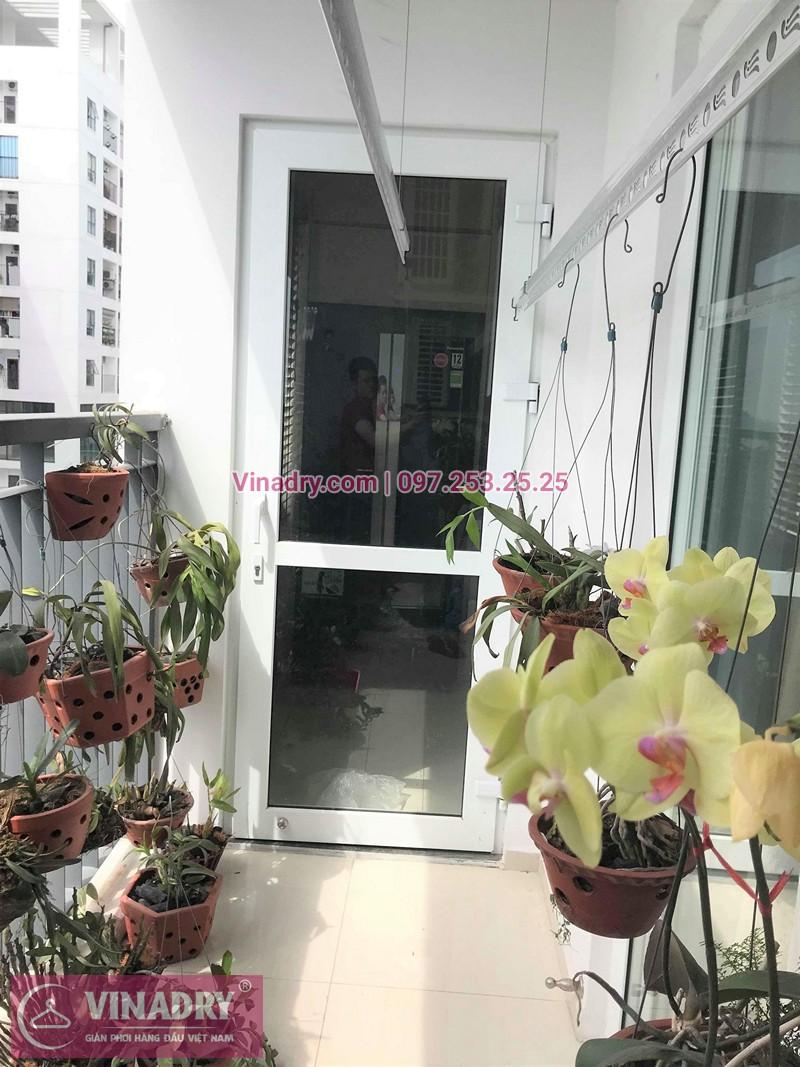 Lắp giàn phơi quần áo chung cư Handico Lê Văn Lương nhà chị Nhạn