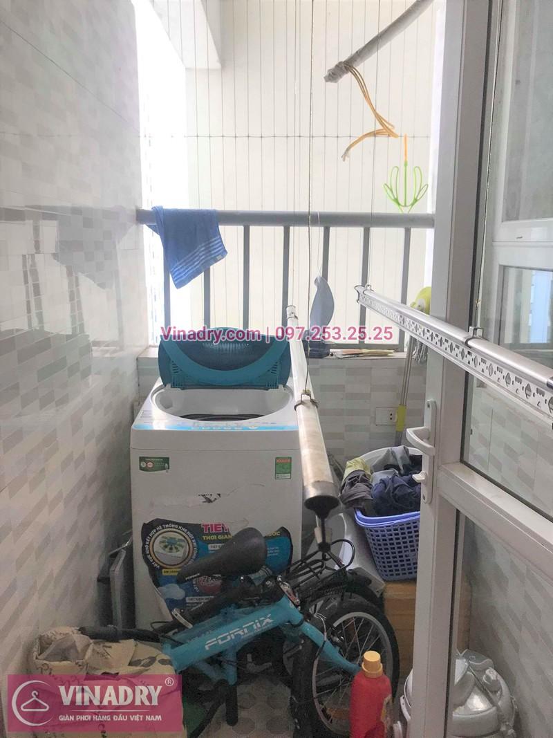 Lắp giàn phơi Hoàng Mai ở chung cư Kim Văn Kim Lũ CT12C nhà chị Minh