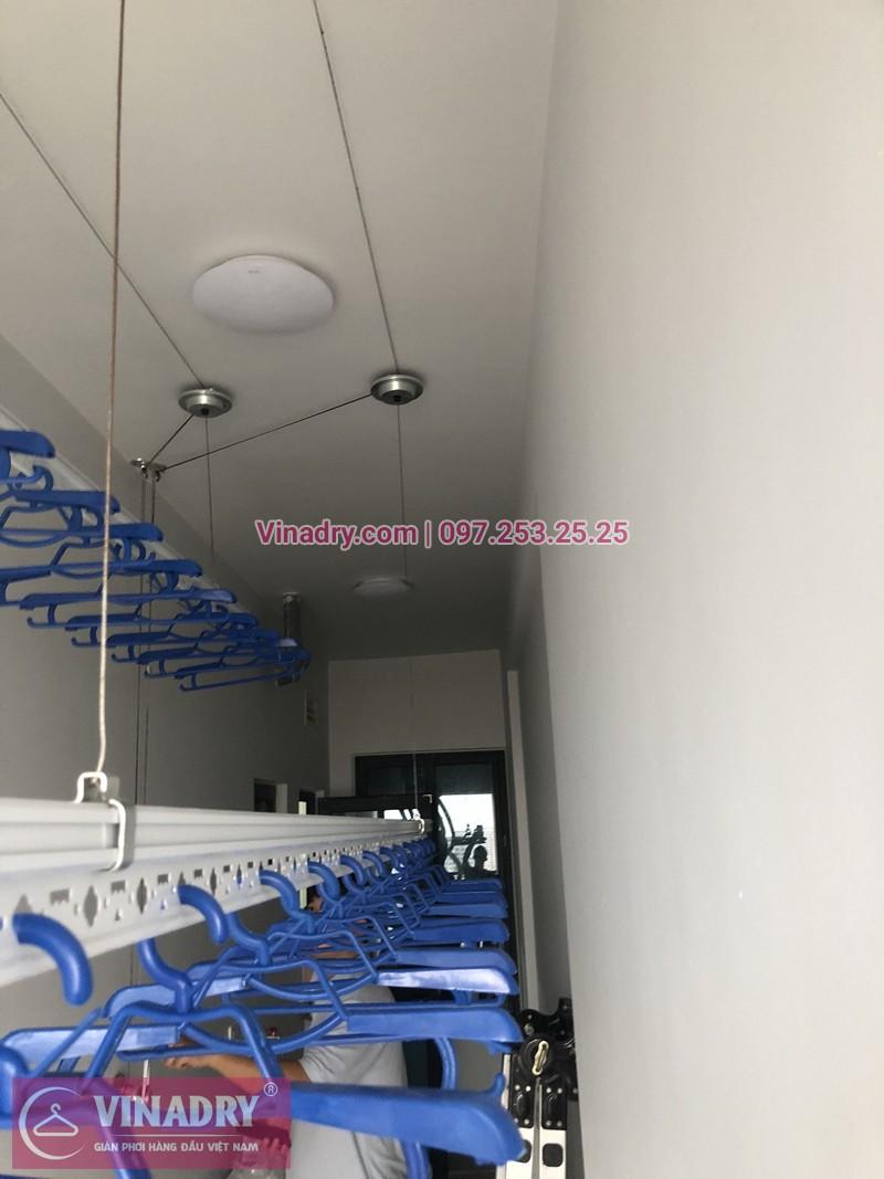 Lắp giàn phơi quần áo chung cư Thanh Hà Cienco 5, HH02 nhà chị Lệ
