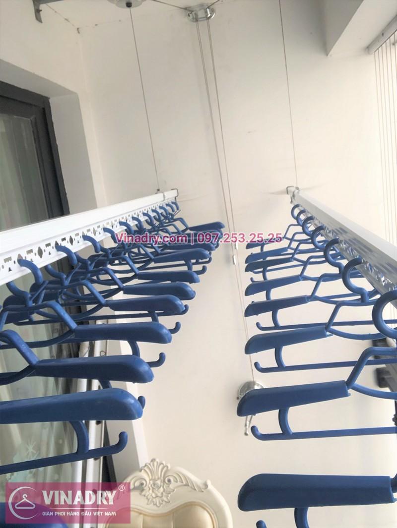 Lắp giàn phơi quần áo chung cư Times City tòa T7 nhà chị Hoài