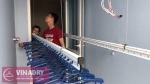 Lắp giàn phơi thông minh Hà Đông nhà chị Hoa ở FLC Star Tower Quang Trung