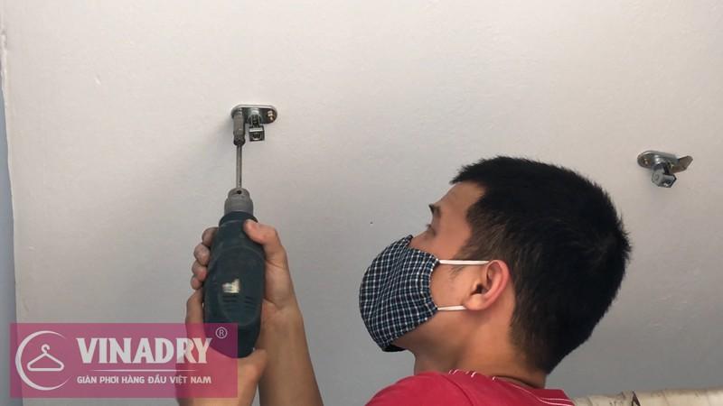 Lắp giàn phơi quần áo chung cư nhà chị Hoa ở FLC Star Tower Quang Trung