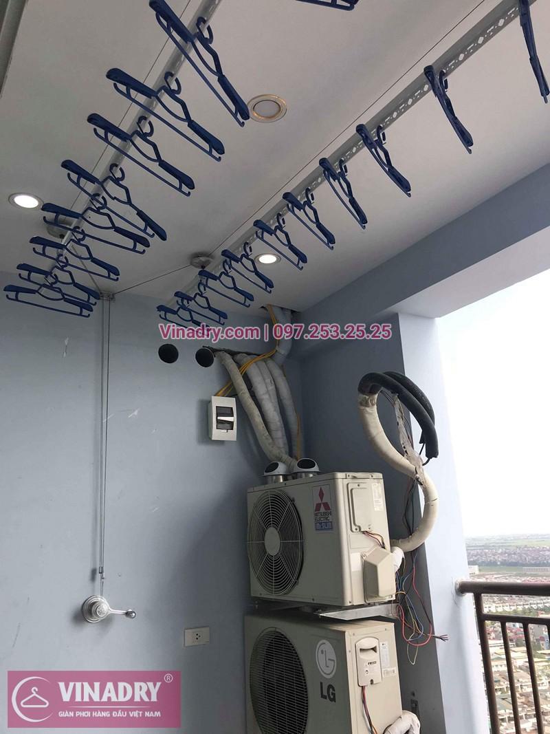 Lắp giàn phơi quần áo chung cư FLC Quang Trung nhà chị Mỹ