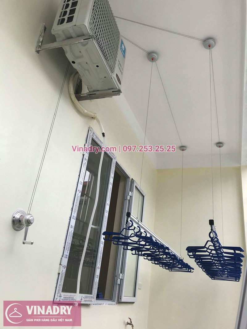 Lắp giàn phơi thông minh Hà Đông nhà chị Mỹ ở ngõ 108 Trần Phú