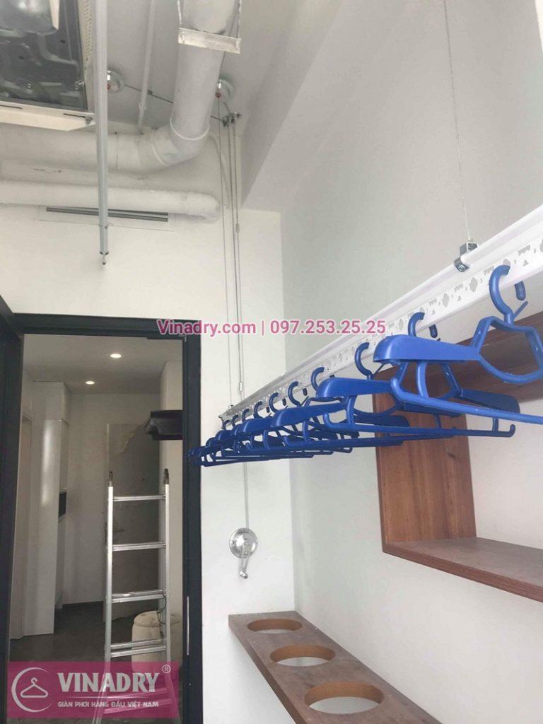 Lắp giàn phơi thông minh Hòa Phát ở chung cư Ecohome 2 nhà chị Linh