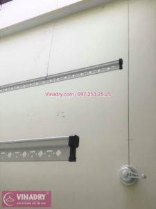 Lắp giàn phơi thông minh Long Biên nhà chị La ở KĐT Vinhomes Riverside