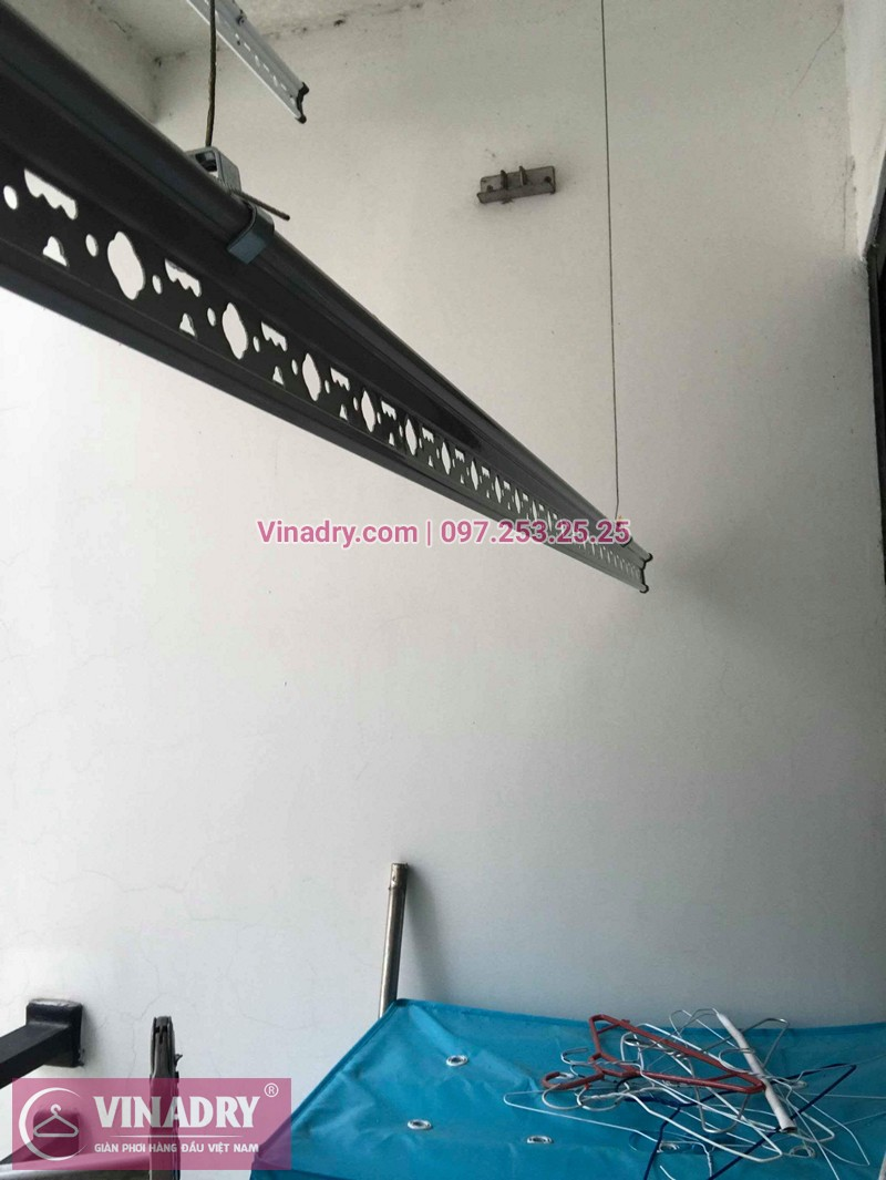 Lắp giàn phơi chung cư Times City nhà chị Lam - bộ giàn phơi Hòa Phát