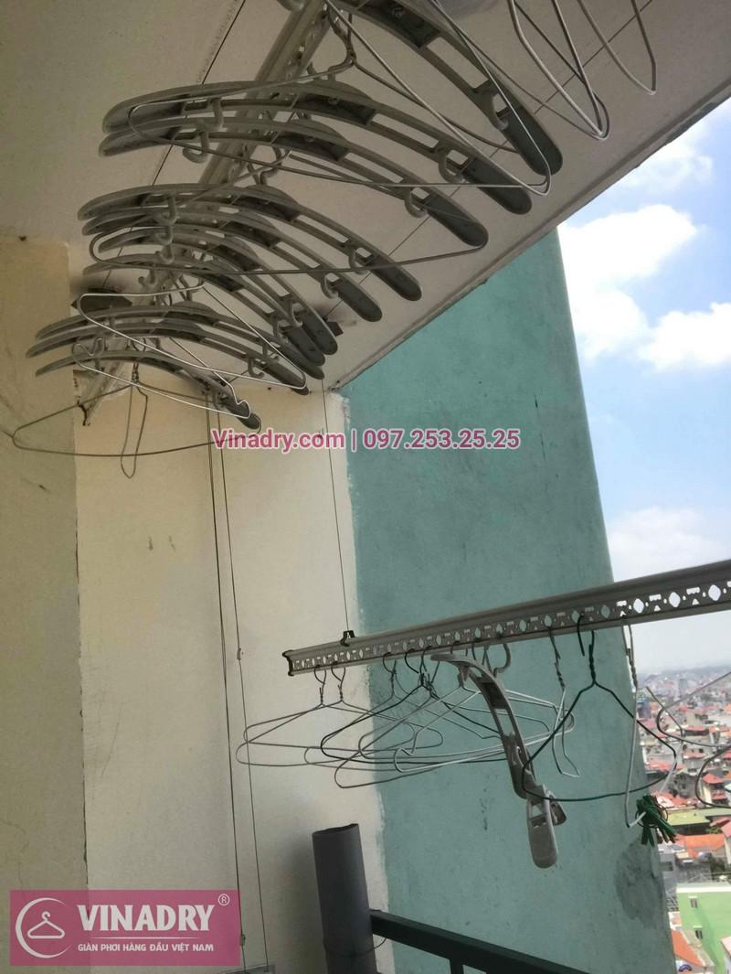 Hình ảnh thực tế bộ giàn phơi quần áo chung cư nhà anh Ninh