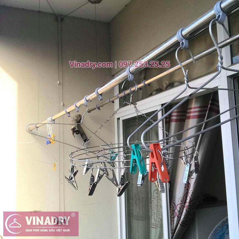 Sửa giàn phơi thông minh Hà Đông nhà chị Dịu ở chung cư An Lạc, Phùng Khoang