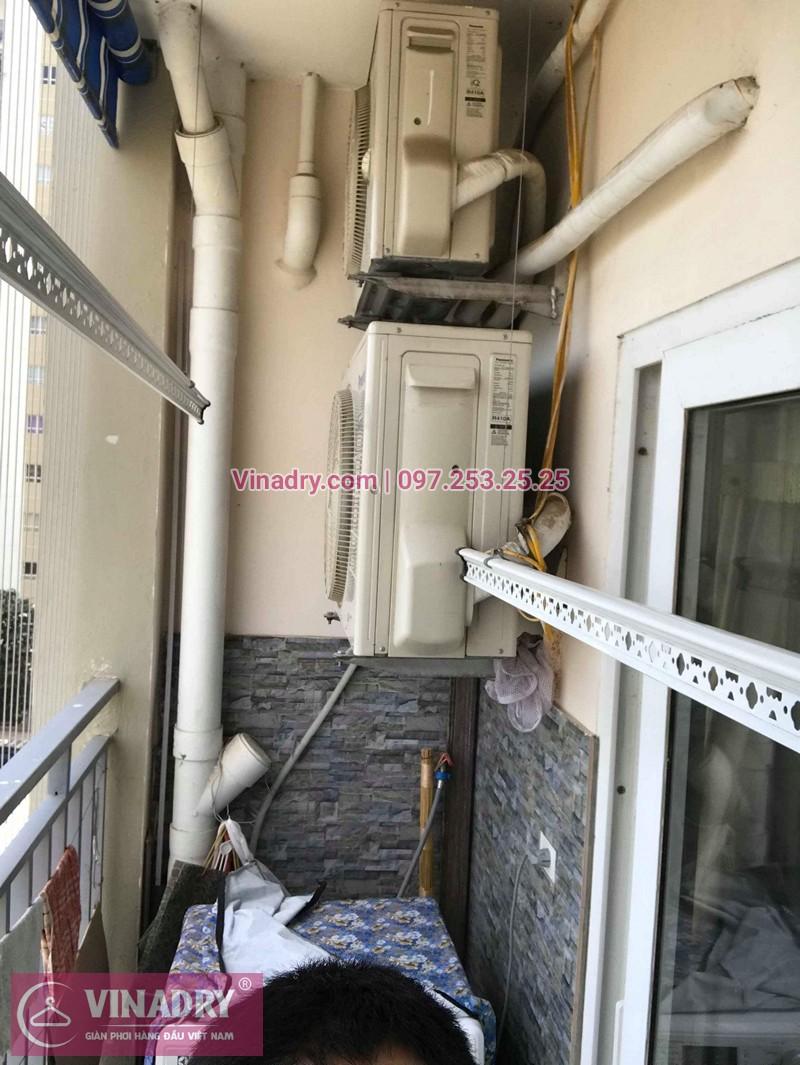 Hình ảnh thực tế bộ giàn phơi quần áo chung cư nhà chị Hoàn
