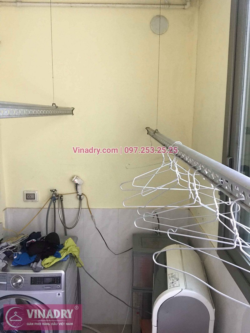Sửa giàn phơi thông minh Hà Đông nhà chị Lệ ở CT5 chung cư Hyundai