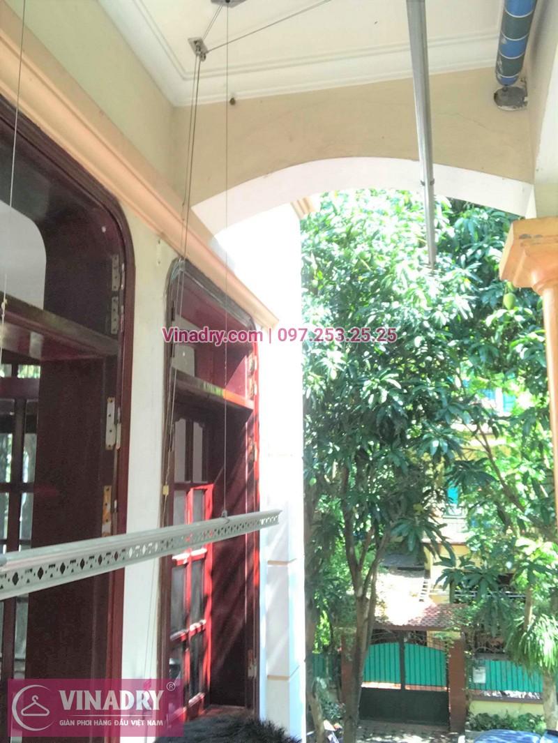 Sửa giàn phơi thông minh Hoàng Mai nhà chị Lê ở KBT2, Bán đảo Linh Đàm