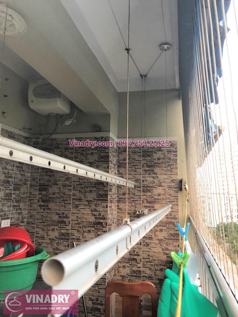 Sửa giàn phơi thông minh nhà chị Nụ chung cư CT20E Việt Hưng Long Biên