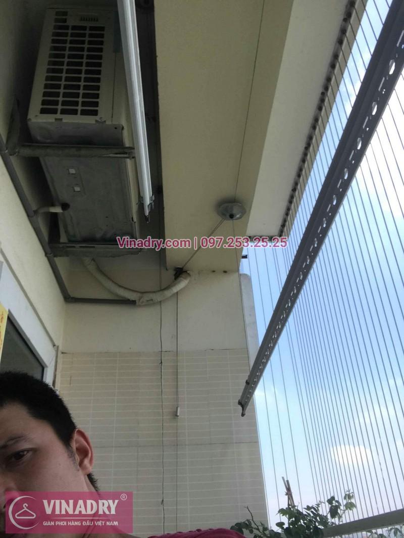 Bộ giàn phơi quần áo chung cư nhà anh Tùng sau khi được sửa chữa
