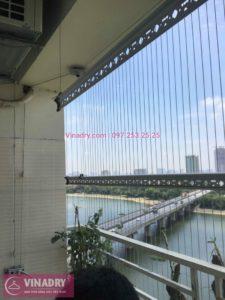 Thay dây cáp giàn phơi thông minh nhà anh Tùng chung cư VP6 Linh Đàm