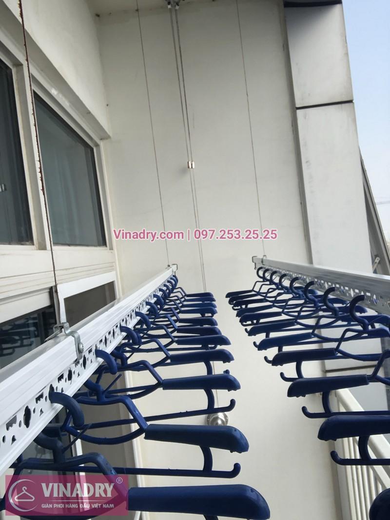 Lắp giàn phơi quần áo chung cư Keangnam Hanoi Landmark Tower nhà chị Lê