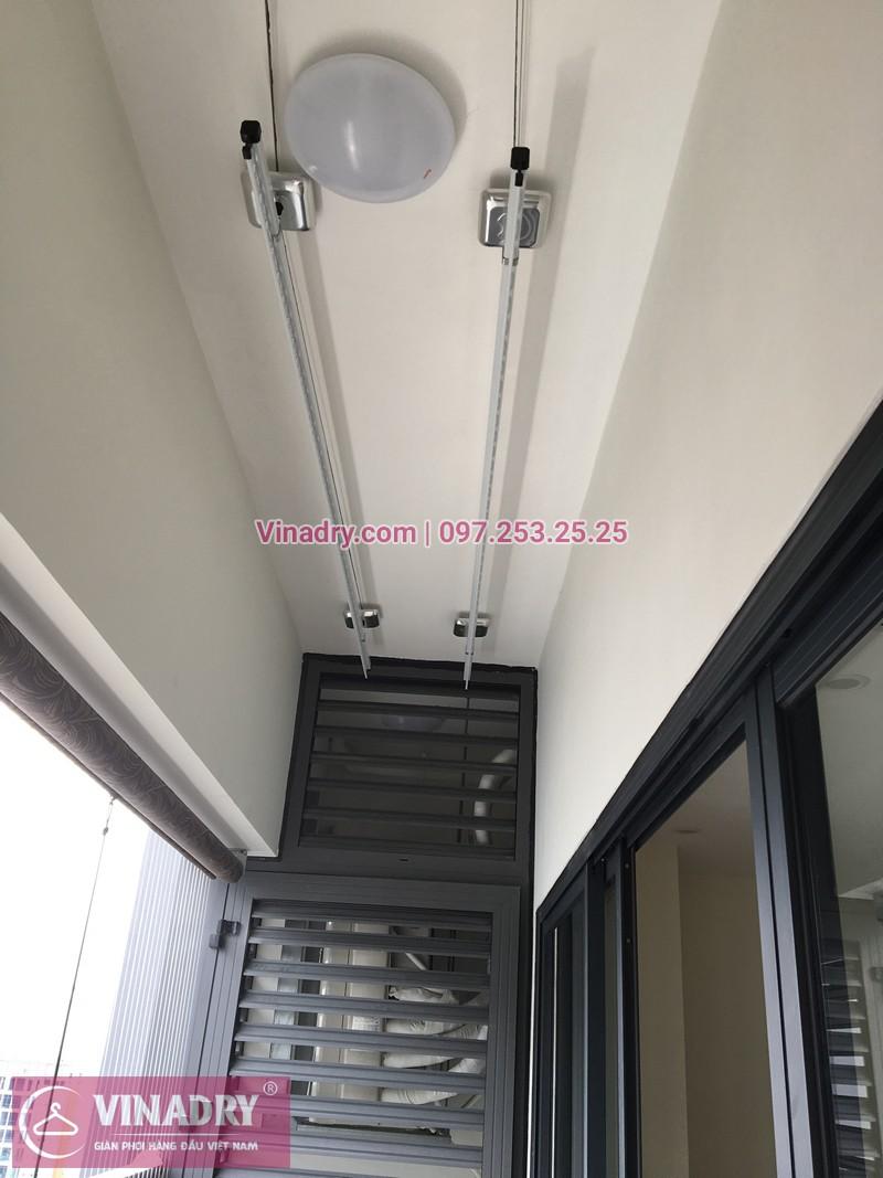Lắp giàn phơi Hòa Phát, lưới an toàn ban công nhà chị Hạ cc 143 Nguyễn Tuân