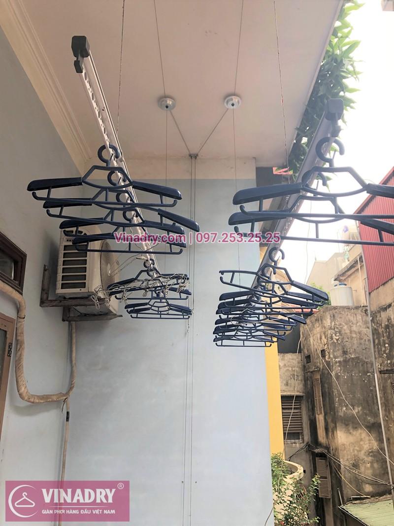 Lắp giàn phơi Hòa Phát nhà chị Dinh ở ngõ 23 Tân Xuân, Từ Liêm