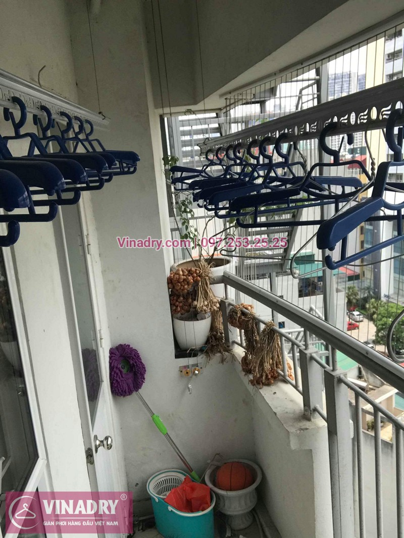 Lắp giàn phơi chung cư A1 Nguyễn Cơ Thạch nhà chị Lan