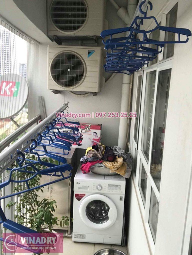 Lắp giàn phơi thông minh Hòa Phát HP999B nhà chị Lan chung cư A1 Nguyễn Cơ Thạch