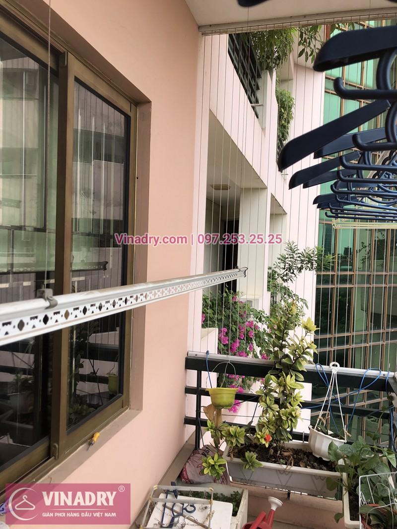 Lắp giàn phơi Cầu Giấy nhà chị Ly ở Làng Quốc tế Thăng Long
