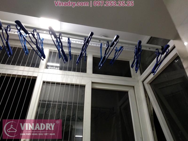 Lắp giàn phơi quần áo chung cư B3D Nam Trung Yên nhà anh Hoàng