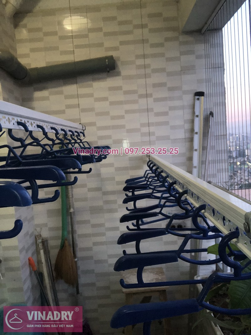 Lắp giàn phơi chung cư CT12C Kim Văn Kim Lũ nhà chị Liên