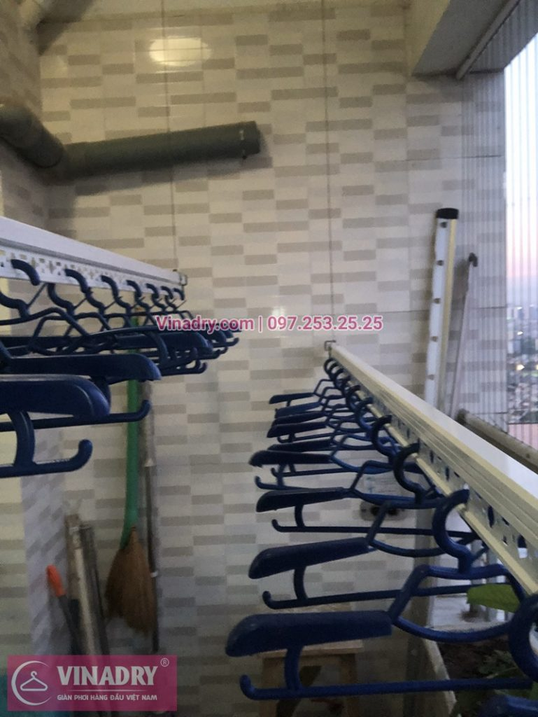 Lắp giàn phơi thông minh chung cư CT12C Kim Văn Kim Lũ nhà chị Liên