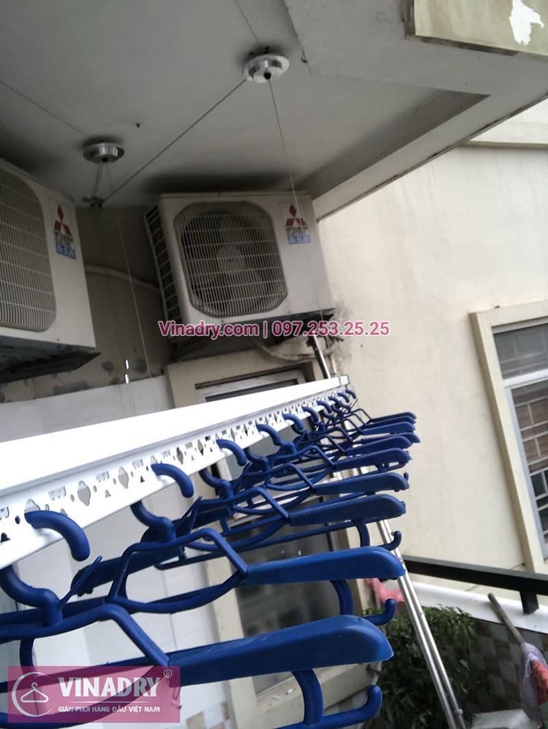 Lắp giàn phơi quần áo chung cư CT5 Mỹ Đình nhà chị Ninh