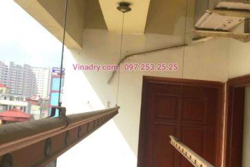 Sửa giàn phơi thông minh chung cư 282 Lĩnh Nam, Hoàng Mai nhà chị Lam