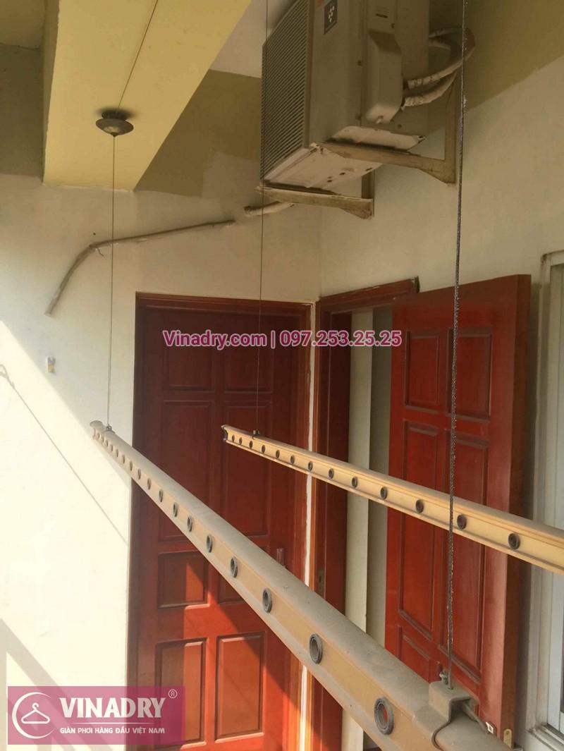 Hình ảnh thực tế bộ giàn phơi quần áo chung cư nhà chị Lam