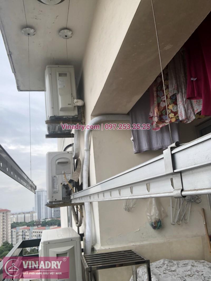 Hình ảnh thực tế bộ giàn phơi chung cư nhà anh Lợi