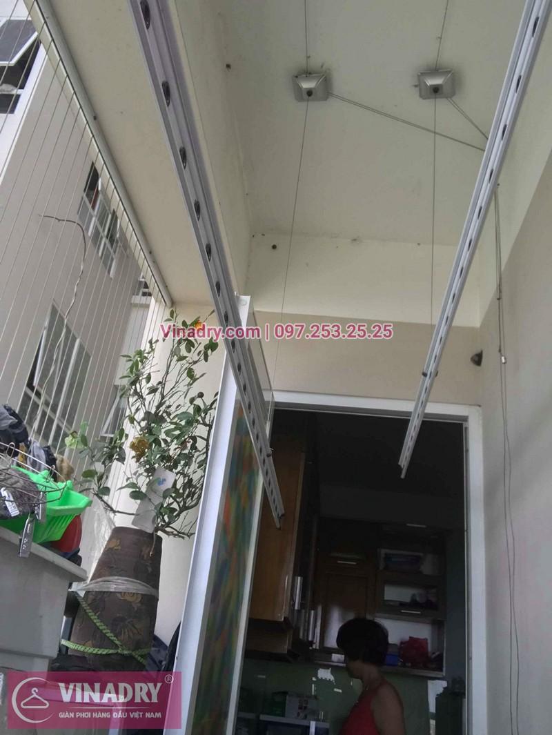Hình ảnh thực tế bộ giàn phơi quần áo chung cư nhà chị Trang