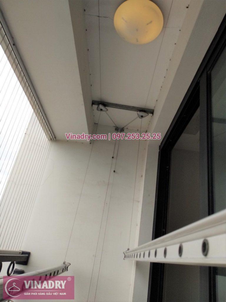 Thay dây cáp giàn phơi thông minh nhà chị Liễu ở T1 chung cư Time City