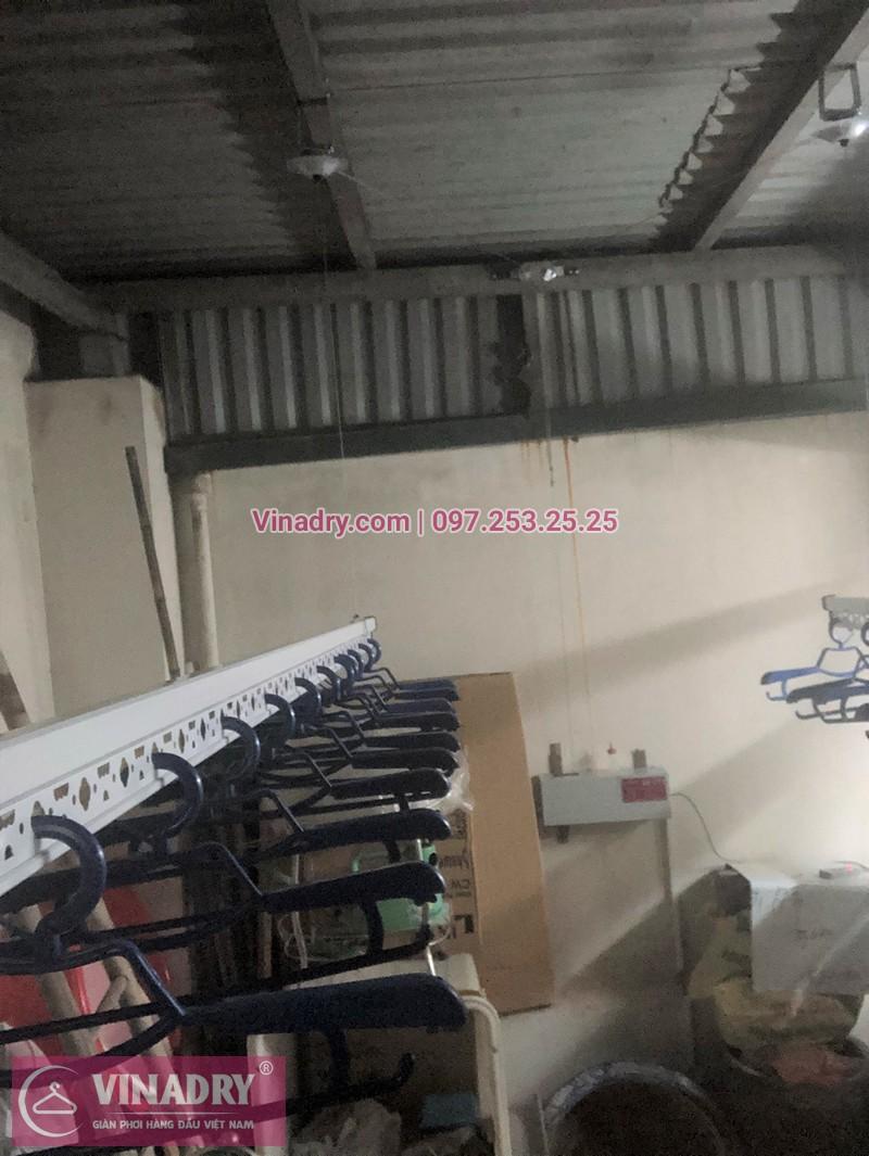 Lắp giàn phơi bấm điện tự động nhà anh Dũng ở ngõ 54 Tôn Thất Tùng