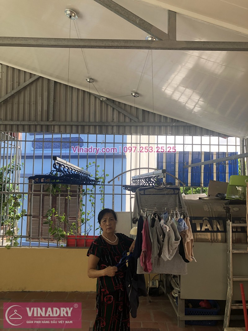 Lắp giàn phơi Hai Bà Trưng nhà cô Thuấn ở ngõ Đình Đông
