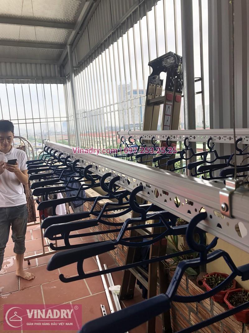 Lắp giàn phơi Hà Đông nhà anh Ninh ở khu LK26 KĐT An Hưng