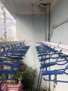 Lắp giàn phơi Hòa Phát nhà chị Đào ở chung cư Bộ Kế hoạch Đầu tư