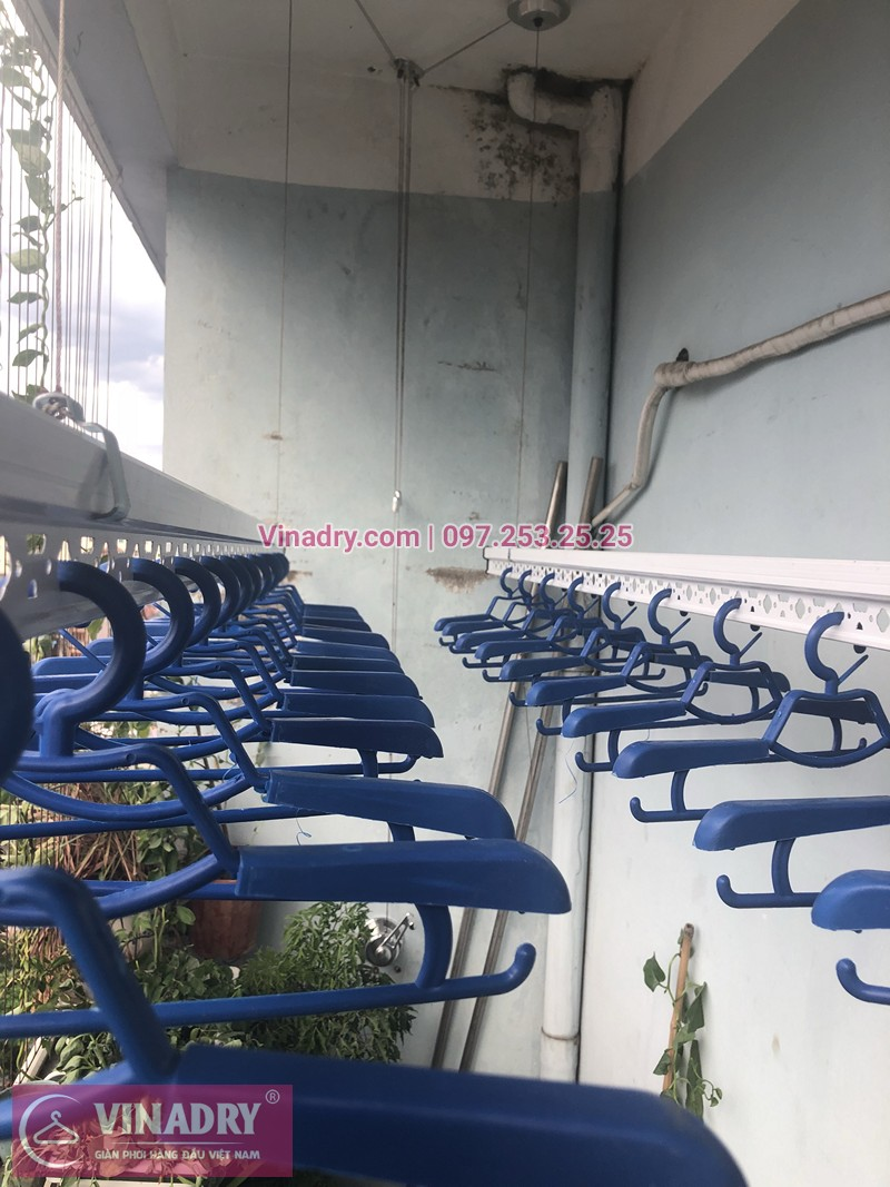 Lắp giàn phơi Cầu Giấy nhà chị Đào ở chung cư Bộ Kế hoạch Đầu tư